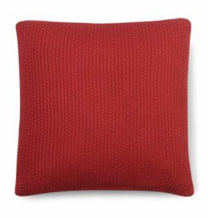 כרית סרוגה -אדום לוהט