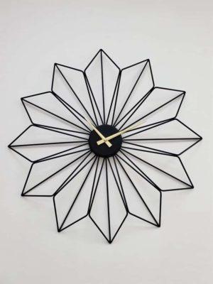 שעון קיר מעוצב דגם לוטוס שחור