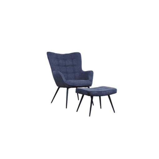 כורסא מעוצבת דגם אשלי כחול כהה