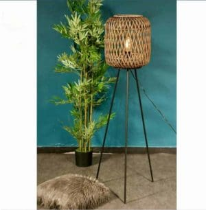 מנורה ריצפתית ראטן דגם אוסלו