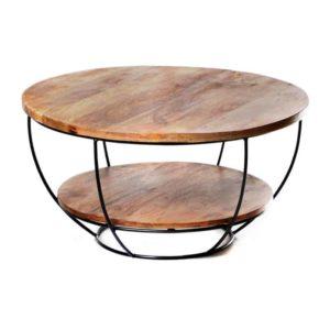 שולחן סלון מעוצב דגם טוני , מידות גובה 44סמ קוטר 85סמ