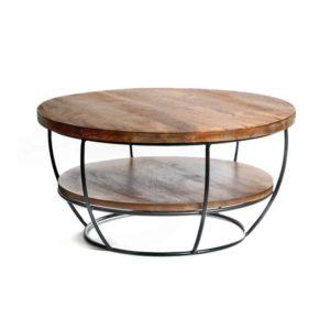 שולחן סלון דגם טוני מידות - גובה 34סמ קוטר 64