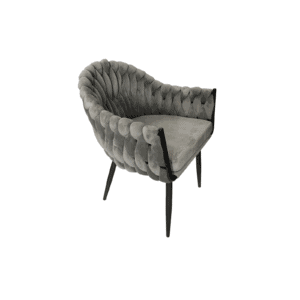 כורסא מעוצבת דגם קלודט באפור
