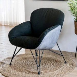 כורסא מהסדרה החדשה דגם טולוז שחור