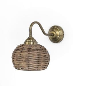מנורת קיר ראטן דגם 4