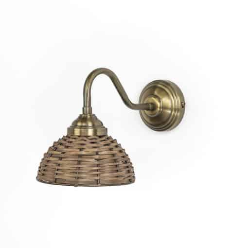 מנורת קיר ראטן דגם 2