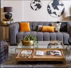 שולחן סלון דגם ברזיל זהב